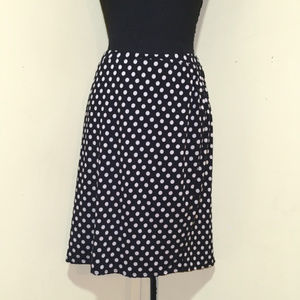 Max Edition Navy & Grey Polka Dot Skirt, NWT, L